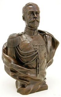 bust of czar nicholas ii by leopold bernhard bernstamm