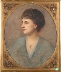 portrait d'une dame by charles-frédéric lauth