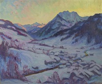 sundown in the alps, gstaad by william samuel horton