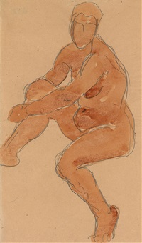 female nude by liubov popova