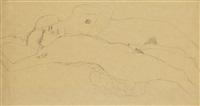 zwei liegende mädchen (two reclining women) by gustav klimt