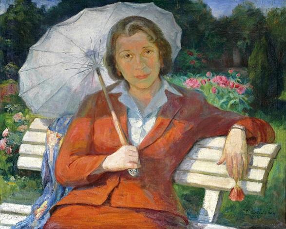 hölgy napernyővel by gyula károly