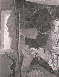 alter ego (die kunstlerin..vor der staffelei) by ursula fischer-klemm