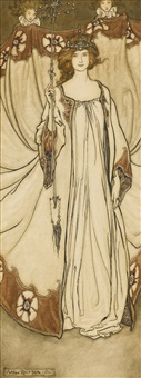 queen mab, who rules in the gardens by arthur rackham