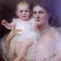 portrait of woman and child by rebecca van trump