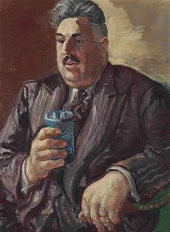 portrait of erich cohn by george grosz