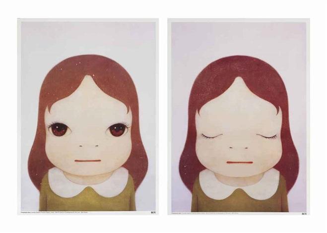 cosmic girl eyes open eyes shut 2 works by yoshitomo nara
