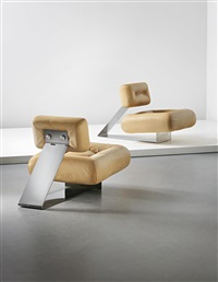 aran lounge chairs (pair) by oscar niemeyer