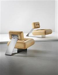 aran lounge chairs (pair) by oscar niemeyer