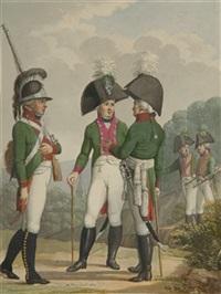 drei bayerische soldaten by johann michael mettenleiter