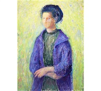 woman in lilac by torger enckell