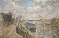 quai de saint-ouen by paul signac