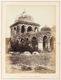 butwa - the tomb of kootub-i-alum (from architecture at ahmedabad) by thomas biggs