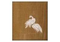 white heron by choun yamazaki