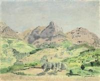 mediterranean landscape by jane simone bussy