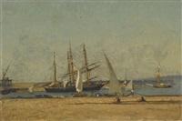 segelboote im hafen by victor de papelen (papeleu)