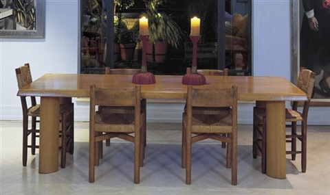 Dining Table And Six Chairs By Charlotte Perriand On Artnet