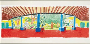 hotel acatlán : fist day (from the moving focus series) by david hockney