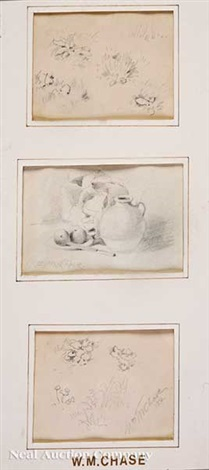 still life studies 3 works by william merritt chase