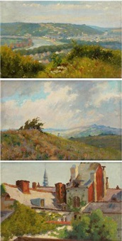 environs de namur (+ 2 others, smllr; 3 works) by albert dandoy