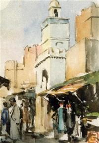 bab el garbi, sousse (+ mosquée dans une rue de sfax; 2 works) by raoul gustave françois quenioux