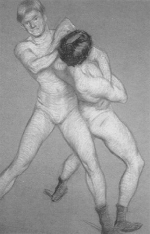 the wrestlers by philip leslie hale