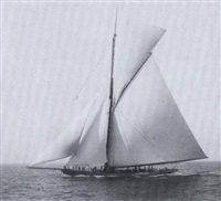 sir thomas lipton's first racing sailboat