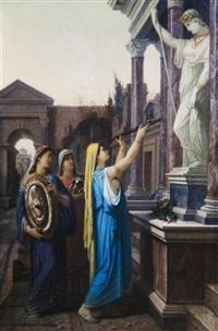 women praying by louis hector leroux
