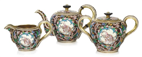 tea service set of 3 by v akimov