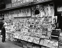 newsstand, east 32nd street and third avenue, manhattan by berenice abbott