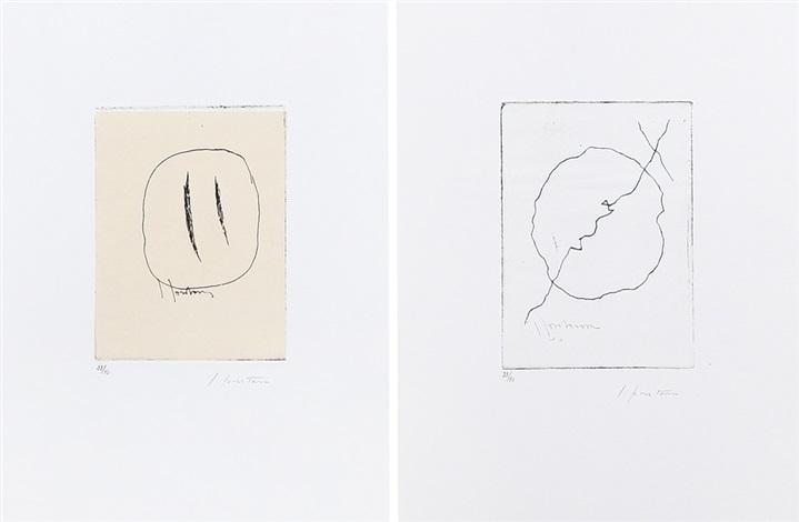 ode a lucio fontana (portfolio of 2) by lucio fontana