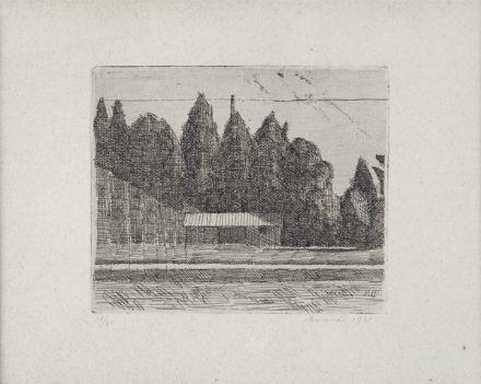 campo da tennis ai giardini margherita a bologna by giorgio morandi