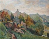 paesaggio campestre a savignone by paolo (stamaty) rodocanachi