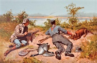wild geese shooting by frederic remington