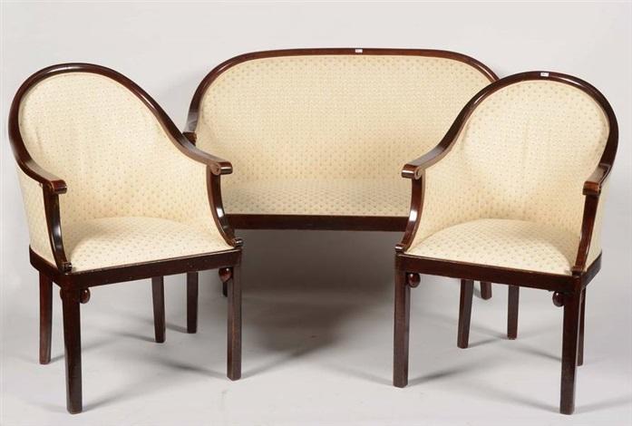 Salon de style Art Nouveau set of 3 by Josef Hoffmann on artnet