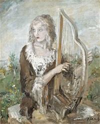 lány hárfával by aurel naray