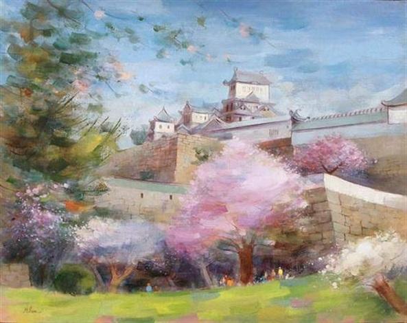 les cerisiers à himeji by millan