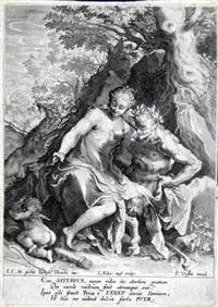 nymphe auf den knien eines satyrs by lukas kilian