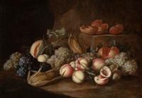 bodegón con frutas sobre base de piedra by alexander coosemans