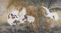 鹤寿图 by jiang jianlin