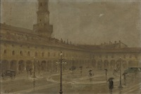 a shower in the town square by eduardo galli