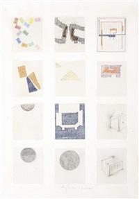 senza titolo (carta quadrettata) by alighiero boetti