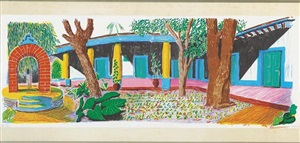hotel acatlán : second day (from the moving focus series) by david hockney