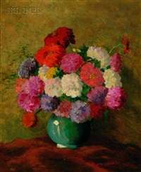 still life with vase of flowers by samuel e. armour