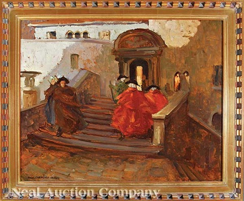 carnival in venice by paul cornoyer