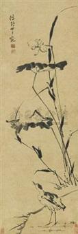 荷花图 by gan tianchong