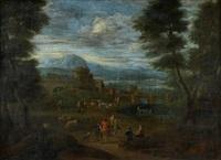 paisagem de hardim com figuras by hermann göhler