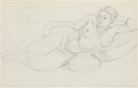 femme couchée by henri matisse