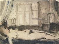 femme endormie by paul delvaux