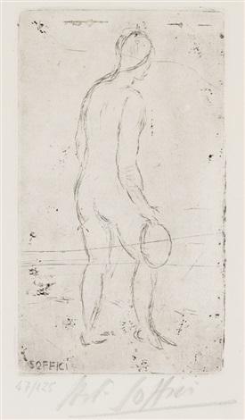figura con tamburello by ardengo soffici